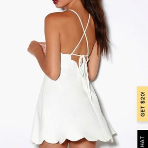 Lulus Play on Curves Backless Ivory Dress